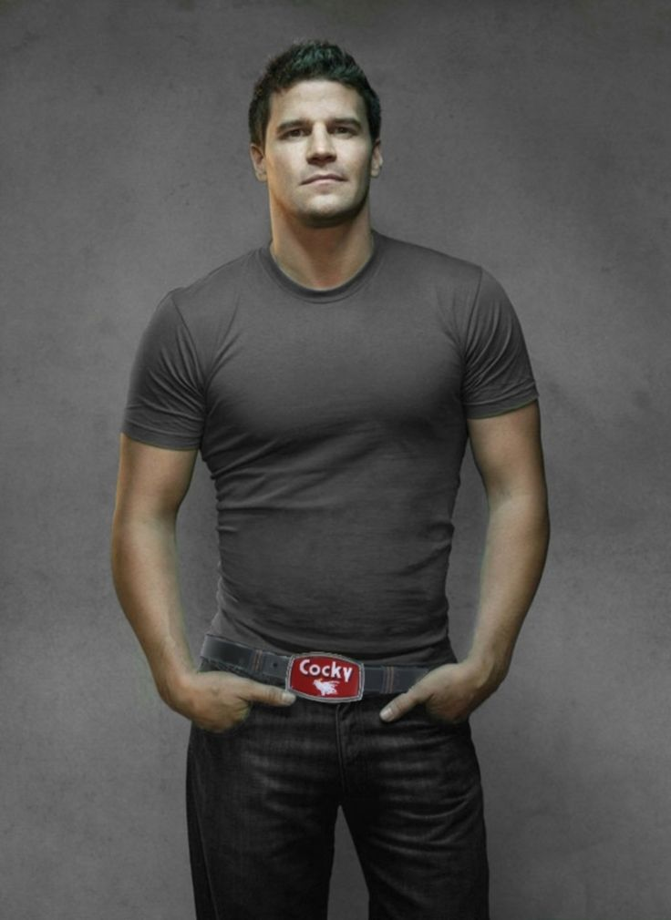 "BEcause David Boreanz can proceed to...how do you say? GET IT! ""Booth and his belt buckle"""