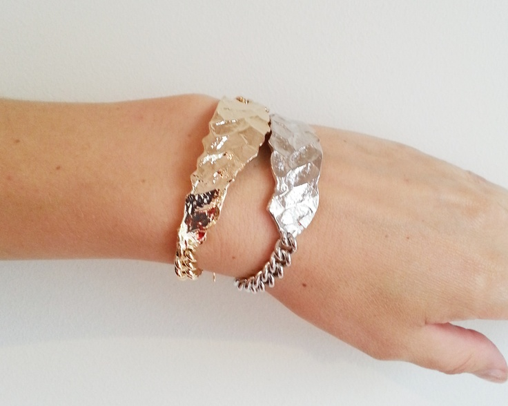 Nimue bracelets in gold and silver