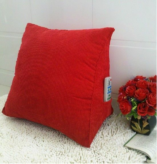 Reclining Sofa Red Triangular pillow car seat cushions for back pain office chair lumbar support pillow