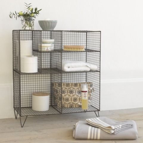 25 best ideas about wire storage on pinterest wire - Bathroom storage baskets shelves ...