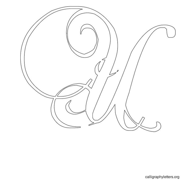 Calligraphy Letter Stencil U Quilling
