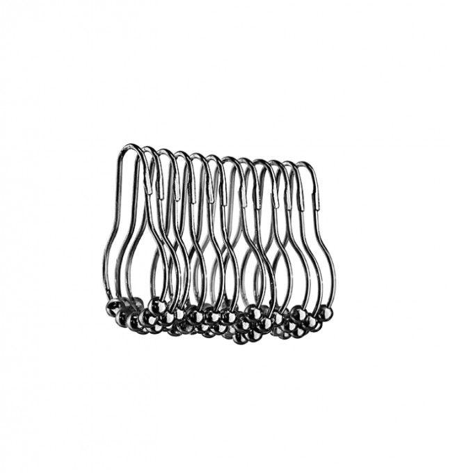 #Lineabeta #Linea #doccia Set 12 ganci tenda 71802.29 | #moderno #Acciaio inox | su #casaebagno.it a 12 Euro/pz | #accessori #bagno #complementi #oggettistica #design #gadget