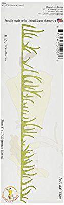 Cheery Lynn Designs Cheery Lynn Designs Die-Grass Border, 8-inch x 1-inch, Other, Multicoloured: Amazon.co.uk: Kitchen & Home