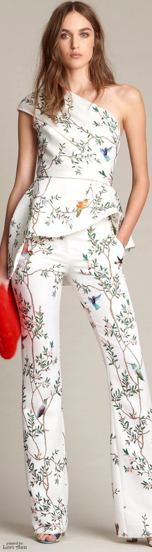 Monique Lhuillier Pre-Fall 2016 women fashion outfit clothing style apparel @roressclothes closet ideas