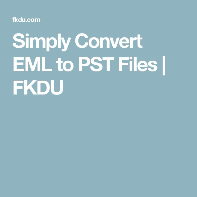 EML to PST Converter efficiently export email data of Windows Live Mail to PST format. It can easily import migrated EML data items to Outlook PST instantly.