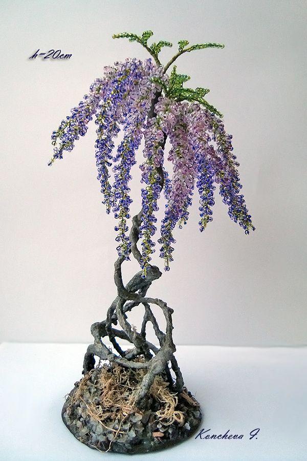 96 best bonsai de perlas images on pinterest wire trees beaded rh pinterest com