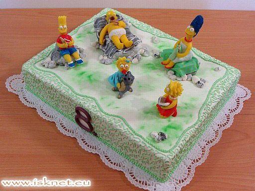 Torta Simpsonovci _ The Simpsons _ Báječné torty od Ivanky a Slavomíra * Fabulous cakes * Báječné dorty