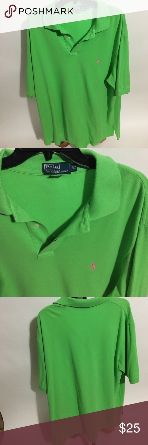 Lime green Polo by Ralph Lauren shirt Lime green Polo by Ralph Lauren shirt with pink emblem Shirts Polos