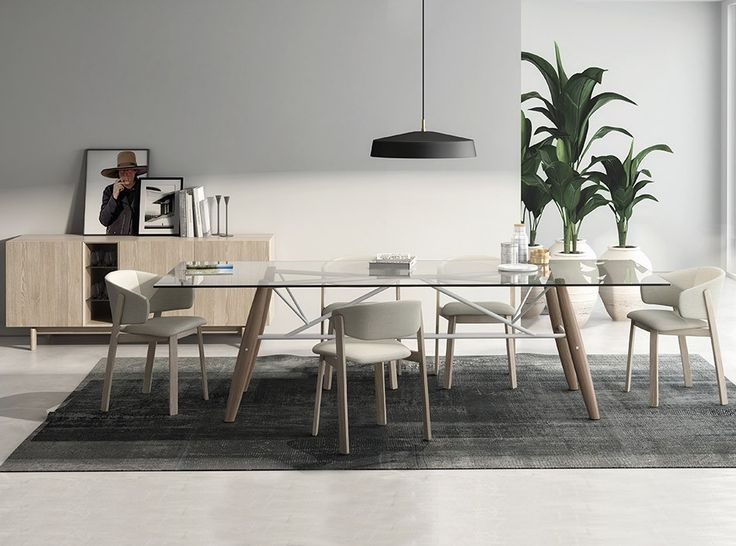contemporary furniture dining tables. glass dining table connection by huppe - $2,722.00 contemporary furniture tables