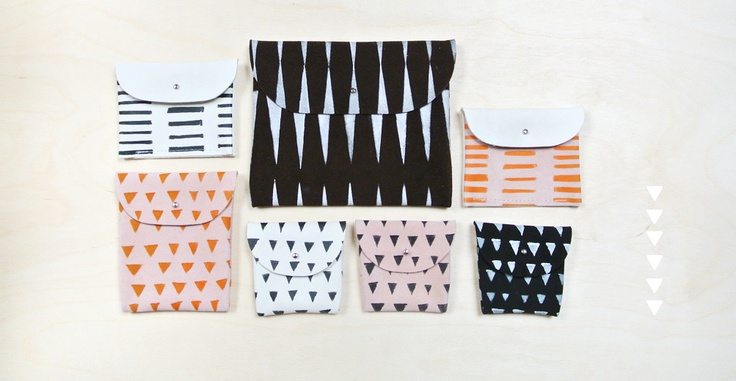 graphic little bags at byaprilandmay.com
