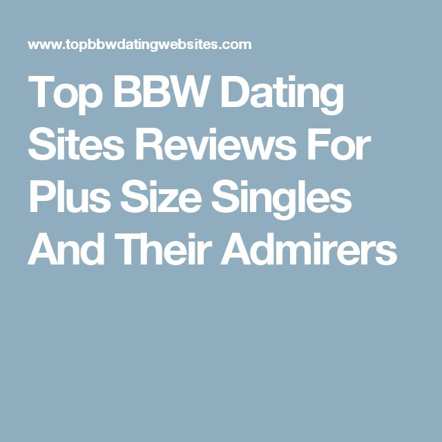 Top dating bbw sites