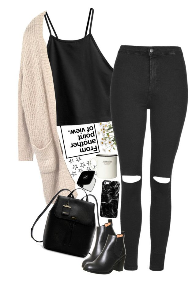 """Untitled #2383"" by sisistyle ❤ liked on Polyvore featuring H&M, DKNY, Topshop, Office, Casetify and Chanel"