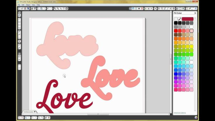 How To Use Offset Quot Layering Quot Text In Silhouette Studio