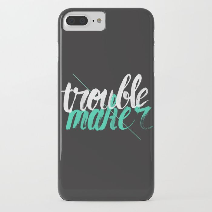 Trouble Maker by Koning - Typography design phone cases by independent artists.