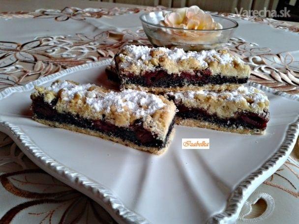 Krehké makovo-višňové koláče (fotorecept)