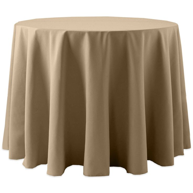 Ultimate Textile (10 Pack) Cotton-feel 90-Inch Round Tablecloth - for Wedding and Banquet, Hotel or Home Fine Dining use, Toast Light Brown