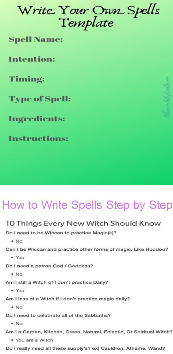 how to write spells step by step for beginners otherworldly