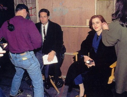 David and Gillian BTS Mulder Scully The X-Files