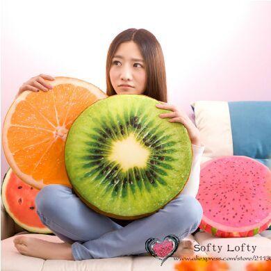 Бесплатная доставка 3D фрукты и вудс плюшевые подушки подушки прижаться мягкие игрушки кровать диван автомобилей офисные подушки отдыха подушки подарки(China (Mainland))