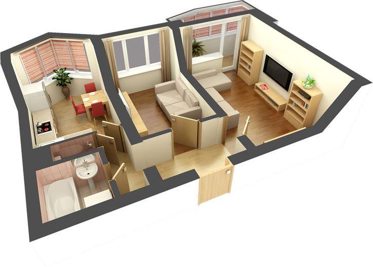 схема двухкомнатной квартиры II-18 - Поиск в Google