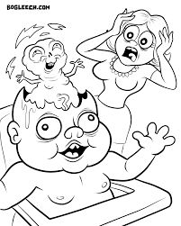 image result for horror coloring pages