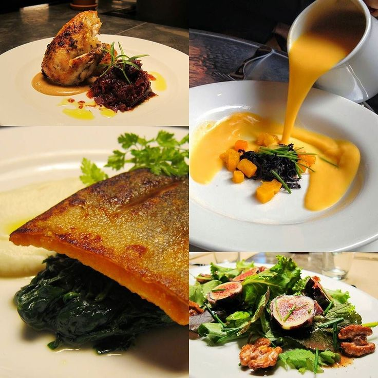 New lunch prix fixe starting today !  Butternut Squash Soup with Black Trumpet Mushrooms  Prosciutto Wrapped Grilled Figs Mesclun Candied Walnuts Tarragon and Balsamic  Pan Seared Brook Trout Organic Cauliflower Sautéed Spinach  Roasted Organic Chicken Breast Braised Red Cabbage with Port Honey Date Puree  #lunchprixfixe #soup #mushrooms #salad #prosciutto #fish #organic #chicken #local #soho