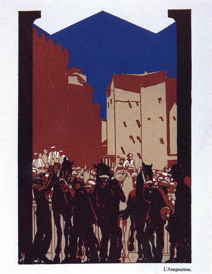 Duilio Cambellotti: L'assegnazione (1932). Da http://www.flickr.com/photos/iltesorodisiena/8289670640