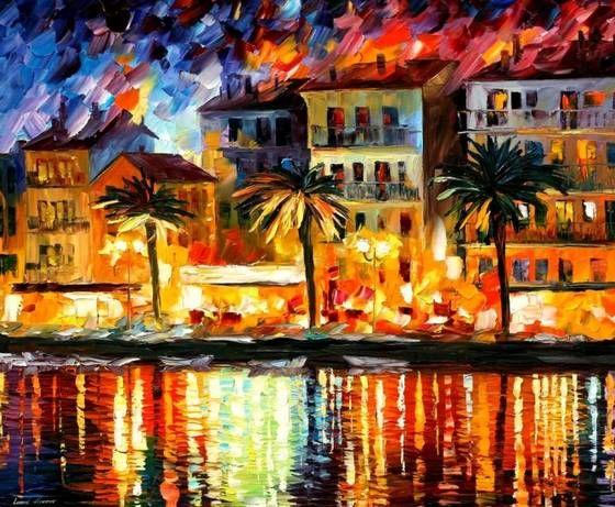Leonid Afremov: Oil Paintings, Attractive Corsica, Afremov Art, Colorful Paintings, Oils, Afremov Paintings, Leonid Afremov, Art Painting
