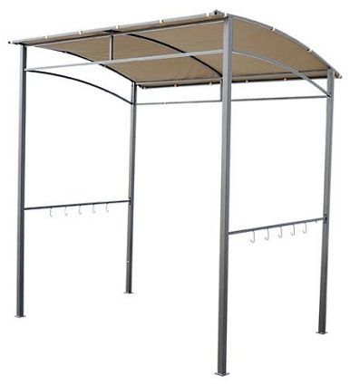 Patio BBQ Grill Canopy Gazebo Steel Frame Shelter With Hooks