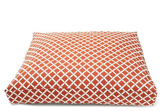 Bamboo Dog Bed, Orange on OneKingsLane.com