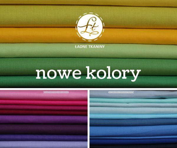 mnóstwo gładkich kolorowych tkanin bawełnianych w www.ladnetkaniny.pl