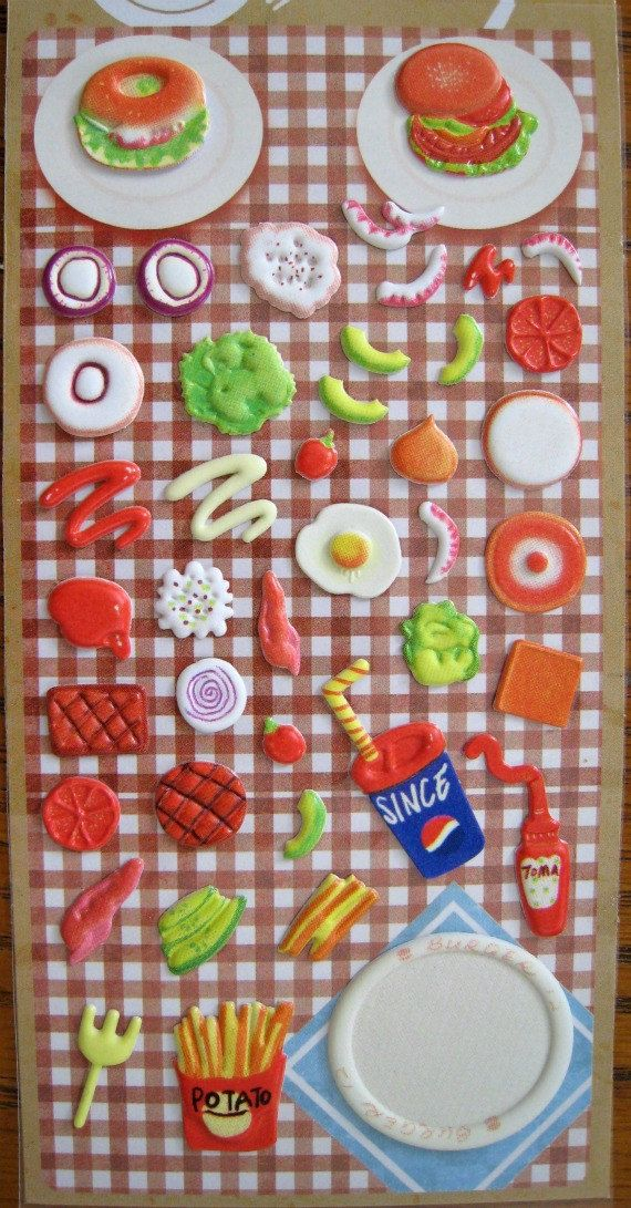 17 best images about picnic stickers on pinterest ants for Scrapbooking cuisine