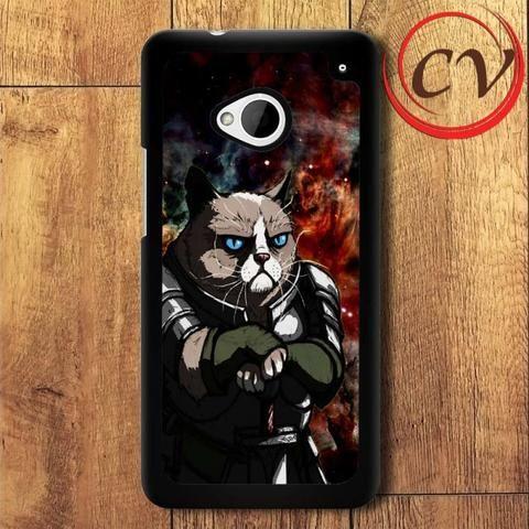 Grumpy Cat HTC One M7 Black Case