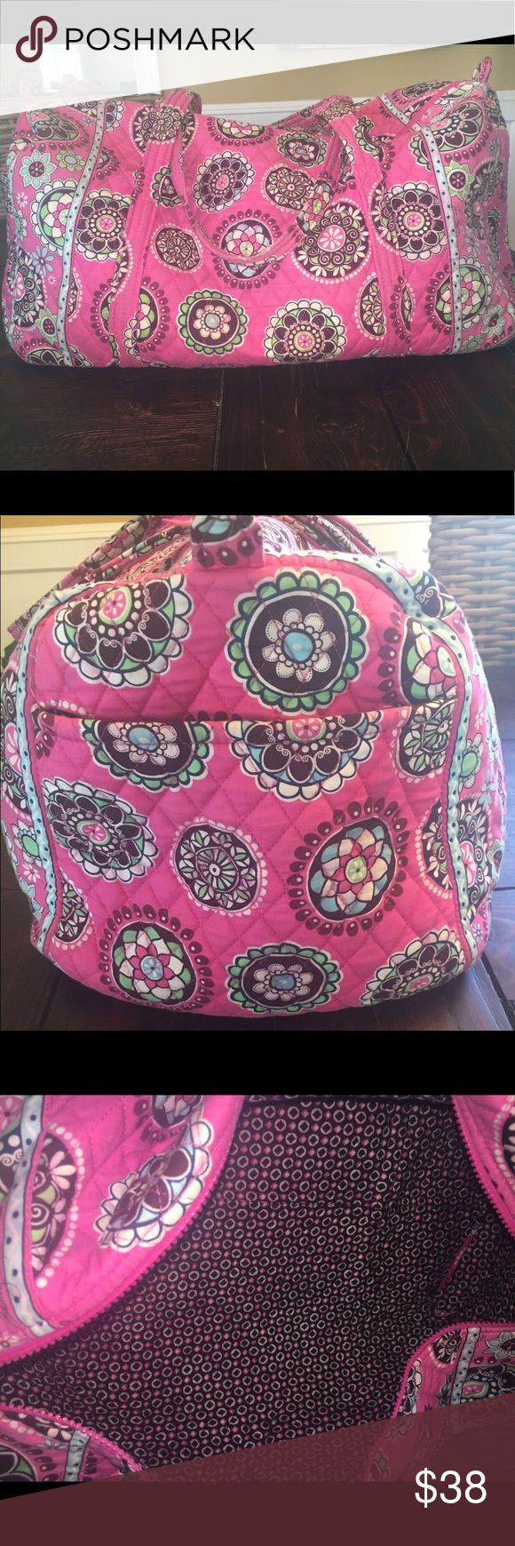 Vera Bradley Large Duffel--Cupcakes Pink In excellent condition. Some fading. Smoke free home. Bags Travel Bags