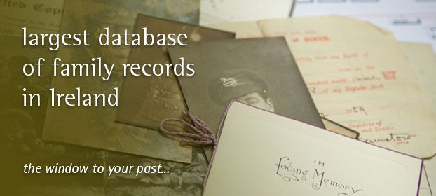 This website contains a unique set of Irish family history records including Birth, Death, Marriage and Gravestone records the majority of which are only available online on this website and cannot be found online elsewhere.