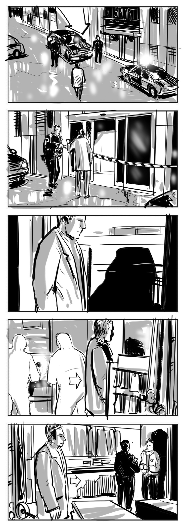 Storyboard for TV Commercial by Giuseppe Cristiano  www.framingfilms.com