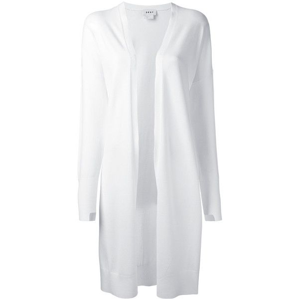 Dkny Extra Longsleeves Cardigan With Step Hem ($210) ❤ liked on Polyvore featuring tops, cardigans, white, belted cardigans, long open cardigan, long sleeve open cardigan, long sleeve cardigan and long open front cardigan