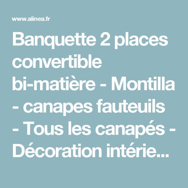 Banquette 2 places convertible bi-matière - Montilla - canapes fauteuils - Tous les canapés - Décoration intérieur - Alinéa