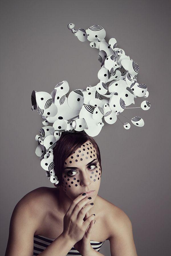 Love the creative design of this head piece, artist, Bondelen in Berlin, Germany❣ Behance.net....x