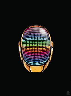 animated gif - helmet - rainbow