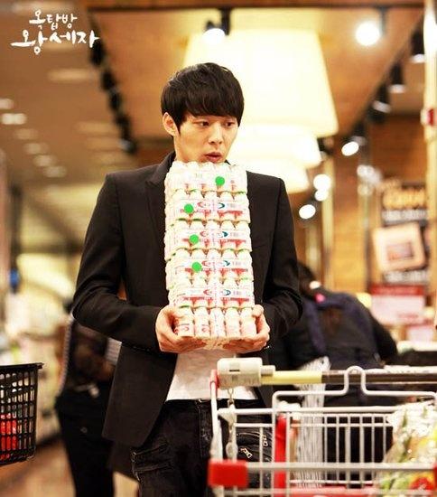 Rooftop prince heehee. His Highness loves yogurt xD