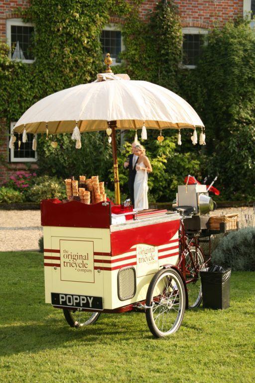 English 1930's Art Deco Ice Cream Tricycle.