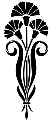 Motif No 59 stencil from The Stencil Library ART NOUVEAU range. Buy stencils online. Stencil code DE249.