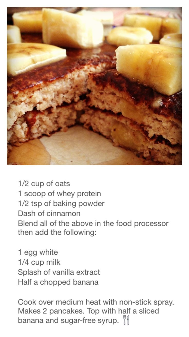 Banana Protein Pancakes - you can add an extra scoop of protein powder.  Use only Maple Syrup!! Great way to sneak protein into your kids breakfast. #charlottepediatricclinic