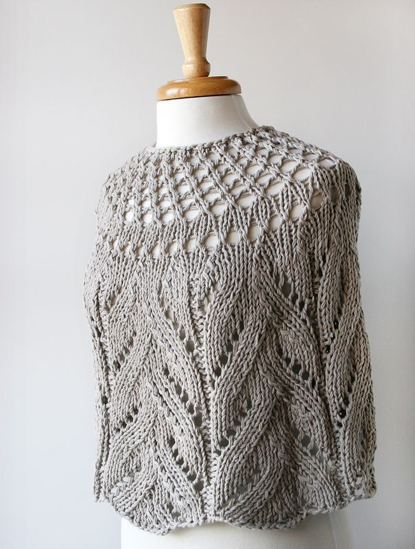Organic Cotton Hand-Knit Capelet by Tickled Pink Knits / Elena R., via Flickr