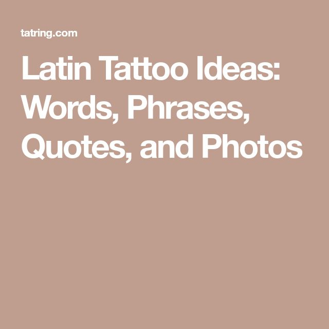 Best 25+ Latin Quote Tattoos Ideas On Pinterest