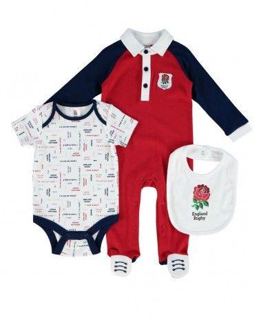 England Rugby Baby 3 Piece Gift Set. £21.99 #RFU