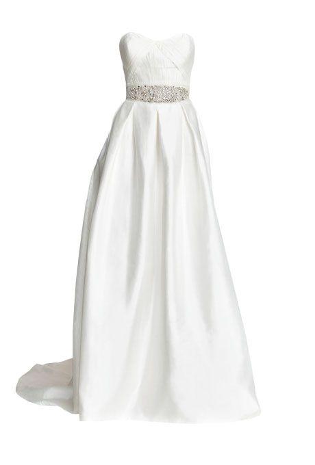 explore pleated wedding dresses