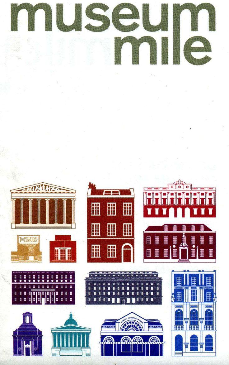 London 39 s museum mile illustration for Design agency london