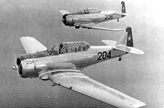 despegado desde Bahía Catalina en misión de búsqueda del extraviado Vultee BT-13 Nº 185